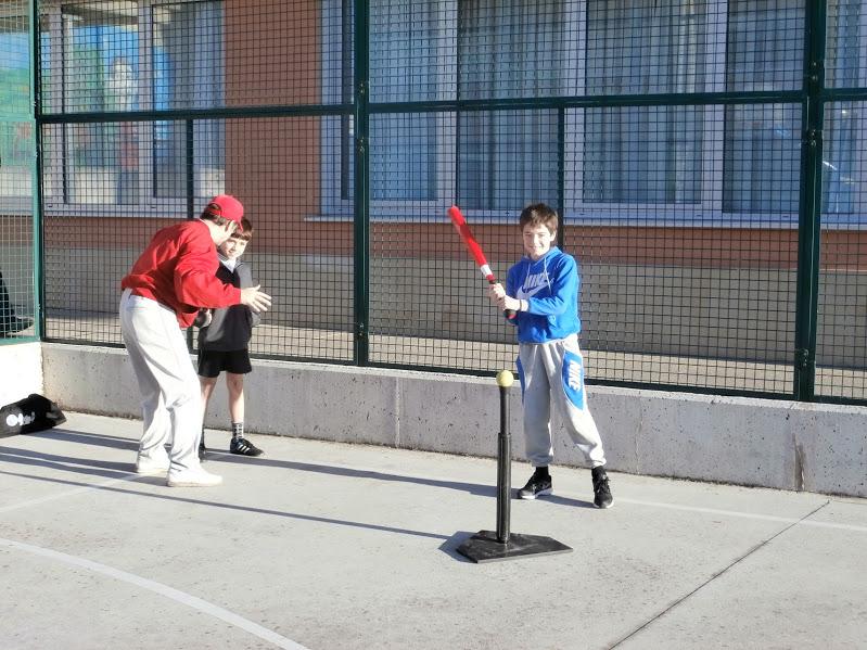 Bateando con el  batting-tee